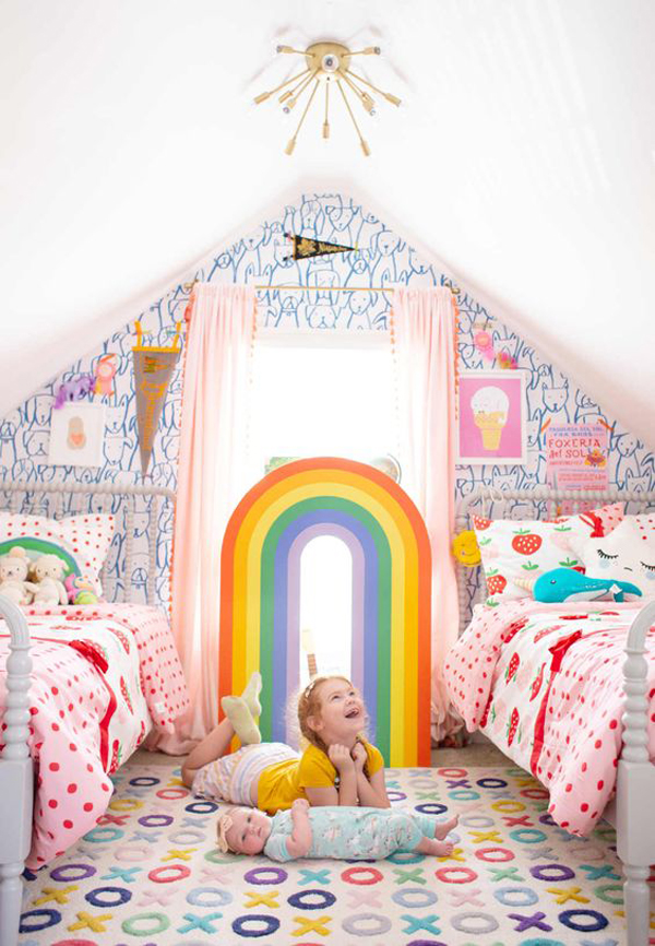 shared-kid-bedroom-with-rainbow-color
