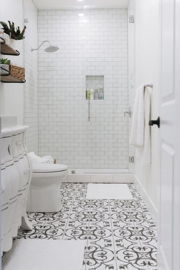 stylish-white-basement-bathroom
