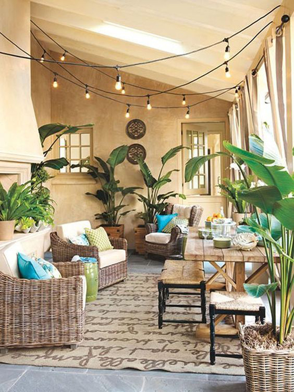 tropical-sunroom-design-with-string-light