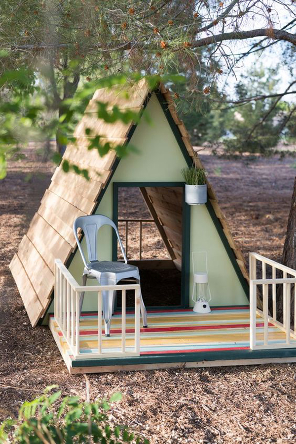 20 Beautiful A-Frame Playhouses For Outdoor
