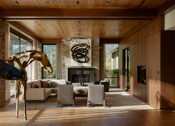wood-living-room-with-private-art-decor