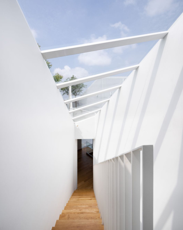 wooden-staircase-design-with-skylight