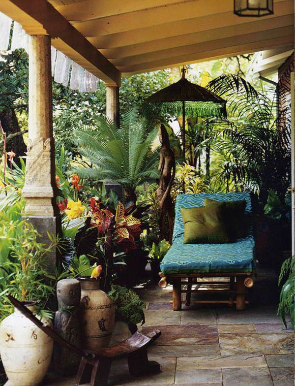 Tropical Style Porch To Relax This Day