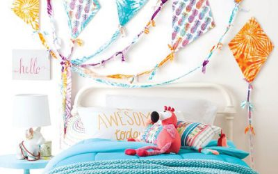 colorful-wall-kites-ideas-for-headboard-bedroom