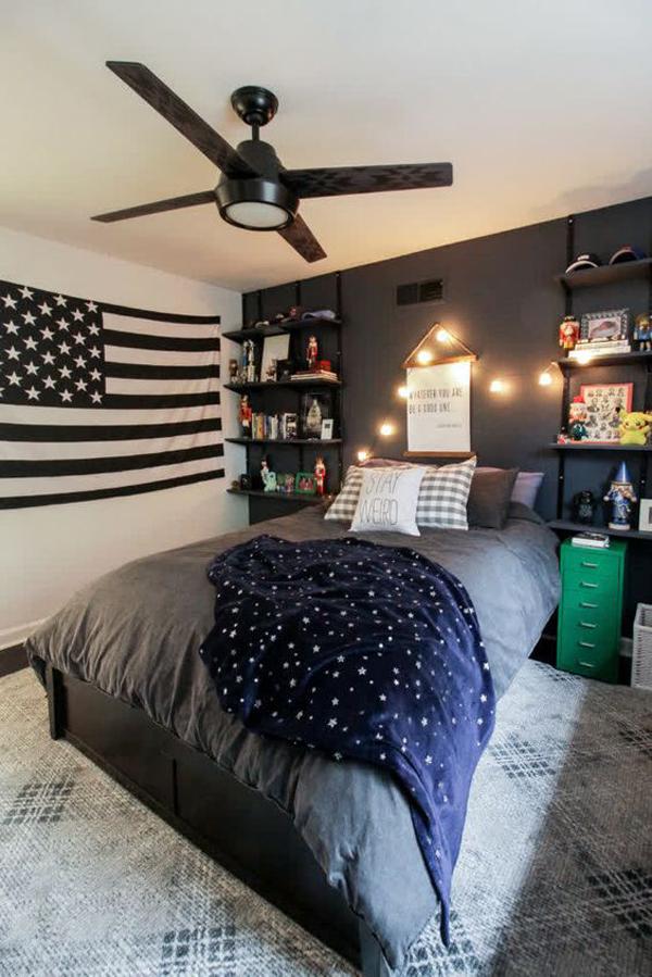 cool-teen-boys-bedroom-with-american-flag-decor