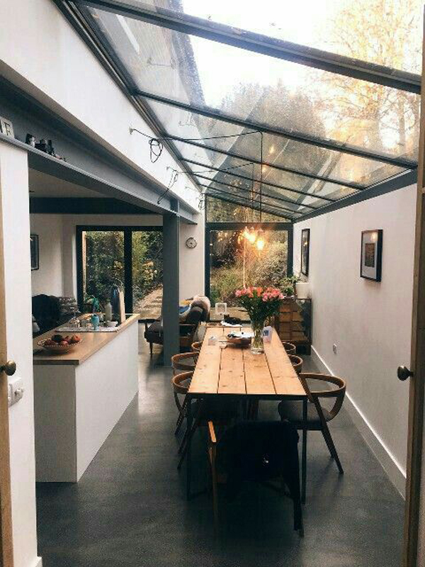 cozy-vintage-dining-and-kitchen-areas-with-skylights