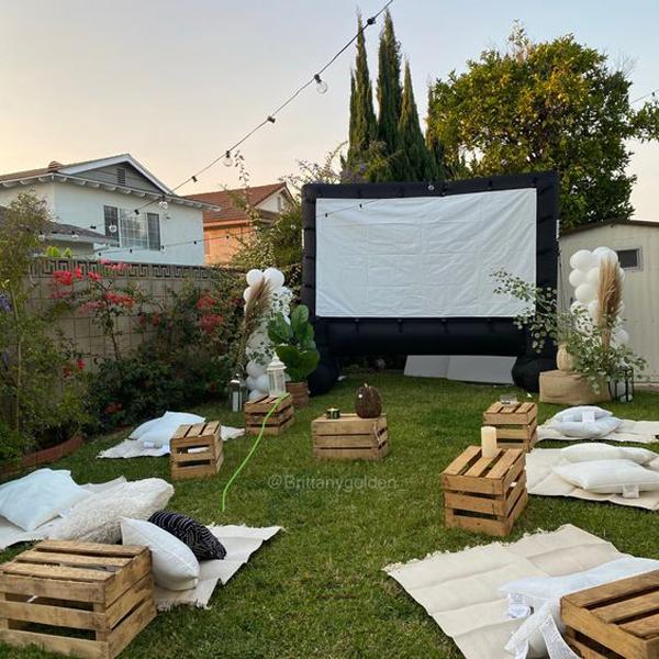 diy-boho-themed-backyard-movie-night