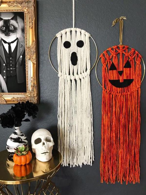 ghost-macrame-halloween-wall-ideas