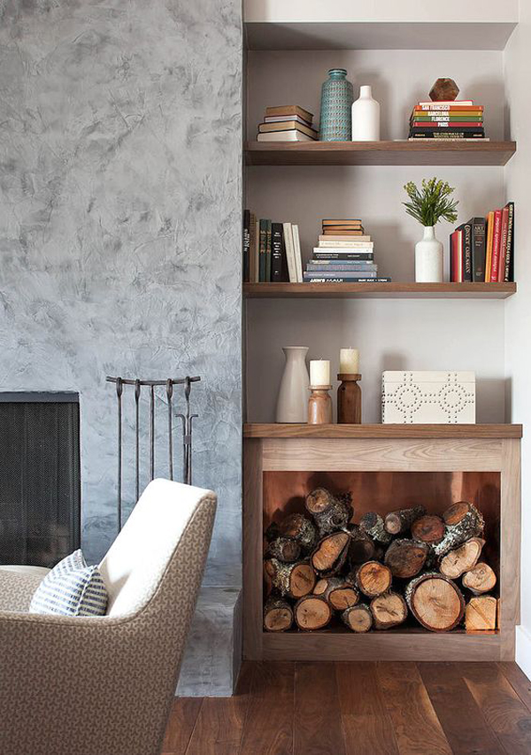 indoor-bookcase-with-firewood-storage-ideas