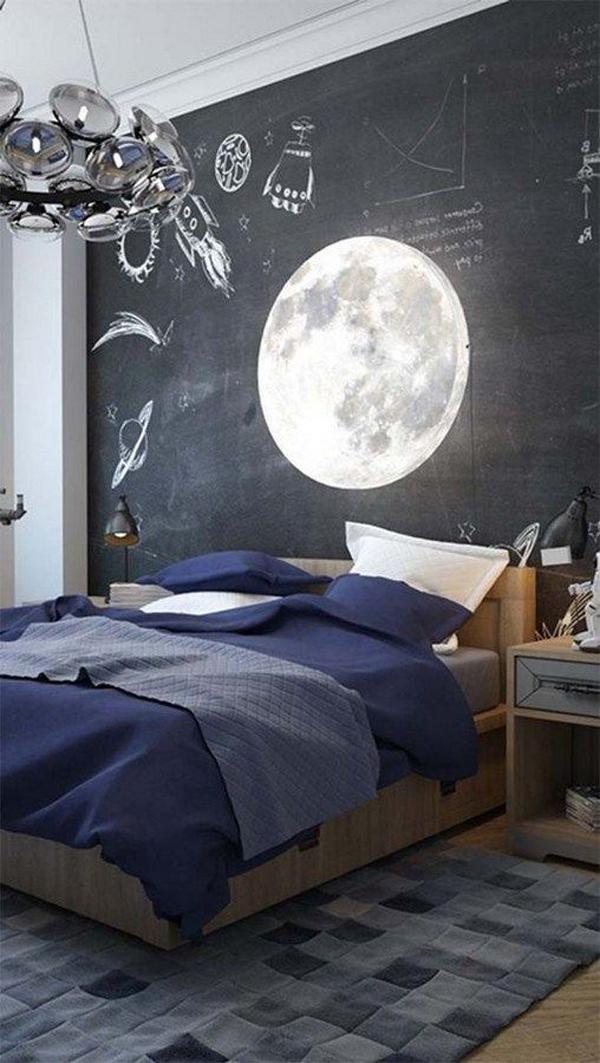 modern-boys-bedroom-with-chalkboad-and-moon-wall