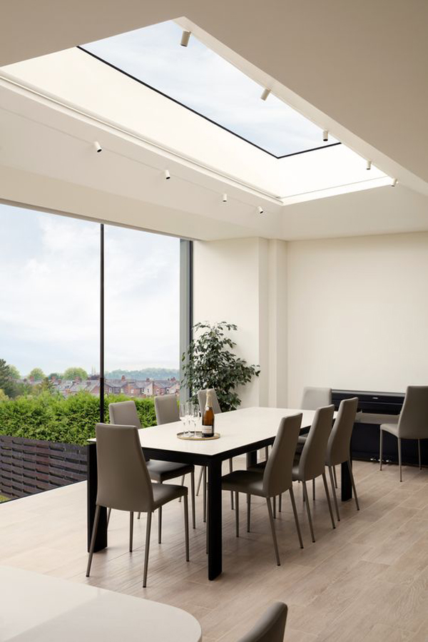 modern-dining-room-with-skylight-and-lighting-ideas