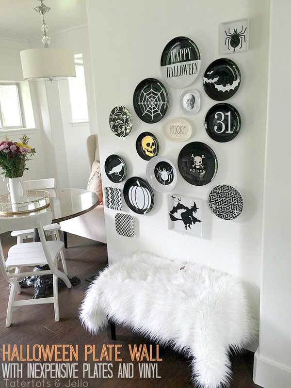 scary-halloween-plate-wall-design