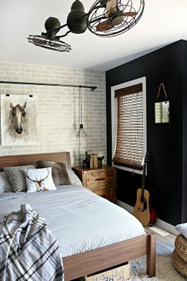 teen-boys-bedroom-design-with-brick-exposed-wall