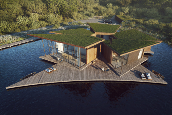 water-lily-house-with-green-roof