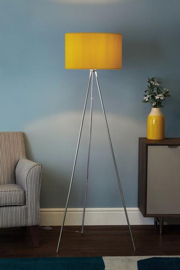 yellow-metal-tripod-floor-lamps